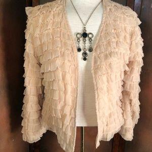 Jackets & Blazers - HINGE Rumba Ruffle Bolero Jacket cardigan size med